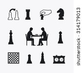 playing chess icons. chess...