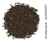Small photo of Black tea earl grey bergamot blend isolated on pure white