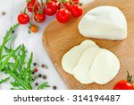 sliced mozzarella  tomatoes and ... | Shutterstock . vector #314194487
