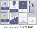 corporate identity vector... | Shutterstock .eps vector #314215403