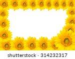 sun flowers frame background... | Shutterstock . vector #314232317