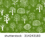 seamless pattern with trees ... | Shutterstock .eps vector #314243183