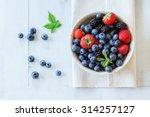 spotted ceramic bowl with... | Shutterstock . vector #314257127