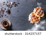 white plate with homemade... | Shutterstock . vector #314257157