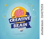 light bulb with brain inside... | Shutterstock .eps vector #314275253