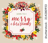 merry christmas card with light ... | Shutterstock .eps vector #314280953