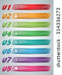 colorful glass rectangle text... | Shutterstock .eps vector #314336273