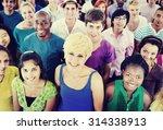 multi ethnic crowd teamwork... | Shutterstock . vector #314338913