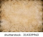 aged nautical treasure map... | Shutterstock . vector #314339963