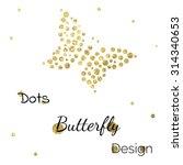 Golden Dots Butterfly Design...