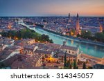 verona. image of verona  italy... | Shutterstock . vector #314345057