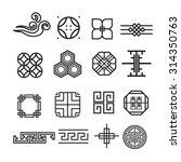asian ornament icon  korean ...