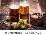 assorted beers in a flight... | Shutterstock . vector #314357423