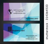 stylish business cards with... | Shutterstock .eps vector #314364533