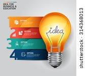 concept idea light bulb... | Shutterstock .eps vector #314368013
