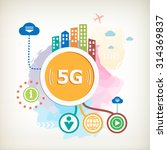 5g sign icon. mobile... | Shutterstock .eps vector #314369837