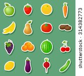 vector fruits   vegetables... | Shutterstock .eps vector #314382773