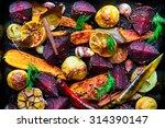 roasted vegetables  closeup view | Shutterstock . vector #314390147