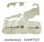 woodcut style illustration of a ... | Shutterstock .eps vector #314397527
