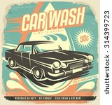 Retro Car Wash Poster Design....
