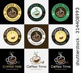 set of coffee shop label badge...   Shutterstock .eps vector #314408993