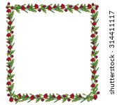 hand drawn floral frame  a... | Shutterstock .eps vector #314411117