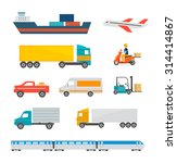 freight transport icons set.... | Shutterstock . vector #314414867