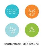 set of 4 vector elements   fire ... | Shutterstock .eps vector #314426273