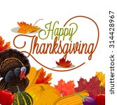 thanksgiving background | Shutterstock .eps vector #314428967