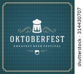oktoberfest vintage poster or... | Shutterstock .eps vector #314430707