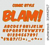 creative high detail comic font.... | Shutterstock .eps vector #314442917