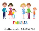 funny families set   nice and... | Shutterstock .eps vector #314452763