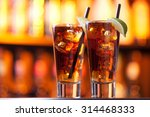 two long island iced tea... | Shutterstock . vector #314468333