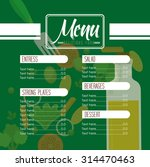 vegetarian menu design  vector... | Shutterstock .eps vector #314470463
