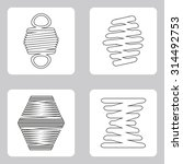 monochrome icon set with springs | Shutterstock .eps vector #314492753