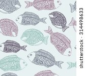 marine seamless pattern with... | Shutterstock .eps vector #314498633