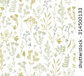 seamless pattern with herbs and ... | Shutterstock . vector #314500133