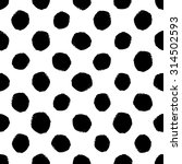hand drawn seamless dot pattern.... | Shutterstock .eps vector #314502593