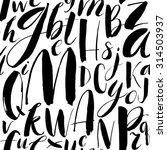 handwritten calligraphic font... | Shutterstock .eps vector #314503937