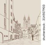 old town of prague  czech... | Shutterstock .eps vector #314507903
