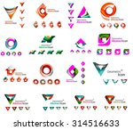 set of various geometric icons  ... | Shutterstock .eps vector #314516633