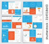 big set brochures for business... | Shutterstock .eps vector #314518643