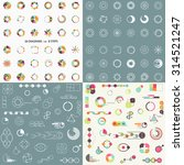 big set of different charts and ... | Shutterstock .eps vector #314521247