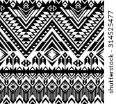black and white tribal navajo... | Shutterstock .eps vector #314525477