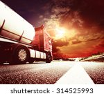 semi truck in motion. speeding... | Shutterstock . vector #314525993