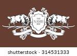 template monogram. vintage logo ... | Shutterstock .eps vector #314531333