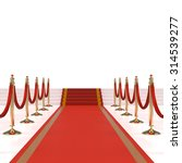 red carpet with red ropes on... | Shutterstock . vector #314539277