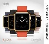set of 5 edition modern shiny...   Shutterstock .eps vector #314550377