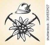 edelweiss alpine oktoberfest...   Shutterstock . vector #314552927