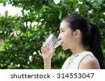close up of pretty girl... | Shutterstock . vector #314553047